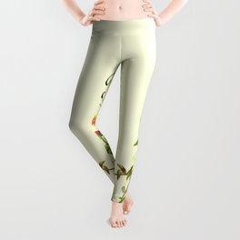 Born to Read Floral Leggings