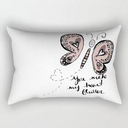 You Make My Heart Flutter Rectangular Pillow