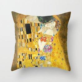 Gustav Klimt The Kiss Throw Pillow