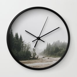Riverside landscape photography Wall Clock