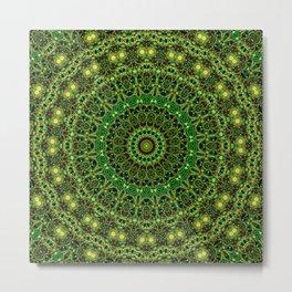 Forest Light Mandala Metal Print