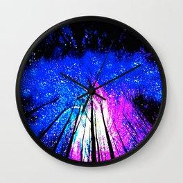 Stars and Trees Wall Clock