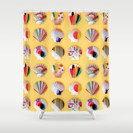 Rainbow Print Shells Shower Curtain