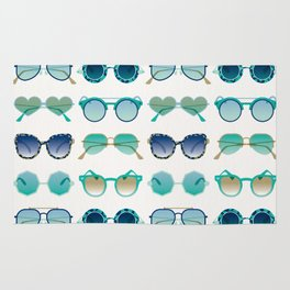 Sunglasses Collection – Turquoise & Navy Palette Rug