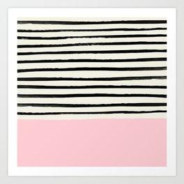Millennial Pink x Stripes Art Print