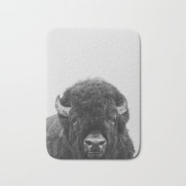 Buffalo Print, Bison Wall Art, Photography Print Bath Mat