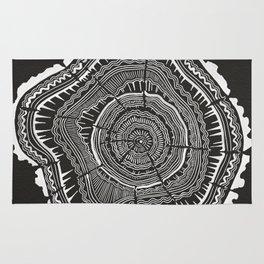 Growth Rings – 65 Years – Black Rug