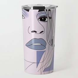 lip filler collage Travel Mug