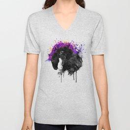 Horse Head Watercolor Silhouette Unisex V-Neck