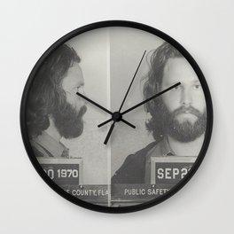 Morrison Miami Mug Shot Wall Clock