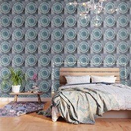 BOHOCHIC MANDALA IN BLUE Wallpaper