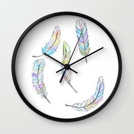 Faling fancy  feathers Wall Clock