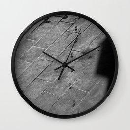 Footsteps to Sarajevo Wall Clock