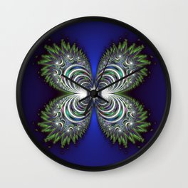 Fractal Butterfly Wall Clock
