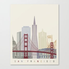 San Francisco skyline poster Canvas Print