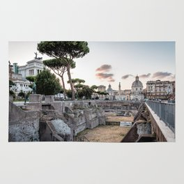 Sunset at Forum of Rome Rug