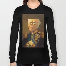 General Spongebob Portrait   Fan Art Painting Long Sleeve T-shirt