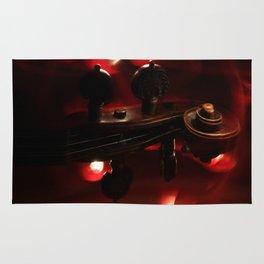 Fiery Red Violin Scroll Rug