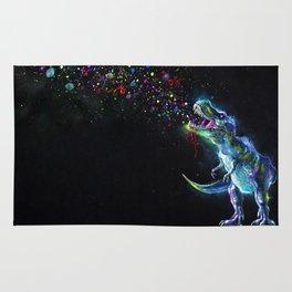 Crystal T-Rex in Space Rug