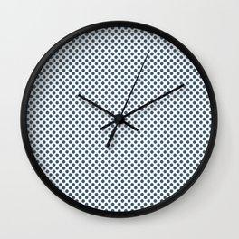 Real Teal Polka Dots Wall Clock