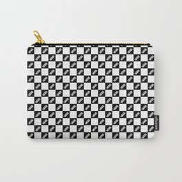 Checker Board Off The Wall White Black Carry-All Pouch
