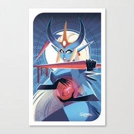Demoness Tarot Card Canvas Print