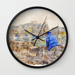 Autumn Paris Wall Clock