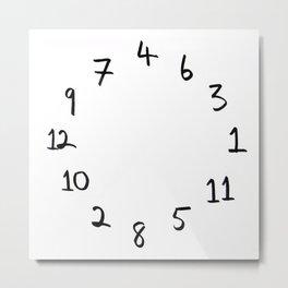 terrible clock Metal Print