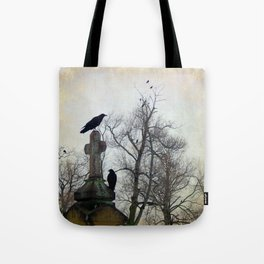 A Gathring Of Crows Tote Bag