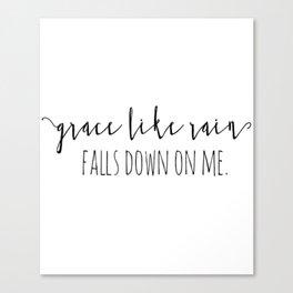 Amazing Grace Like Rain Falls Down On Me Christian Quote Canvas Print