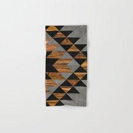 Urban Tribal Pattern No.10 - Aztec - Concrete and Wood Hand & Bath Towel