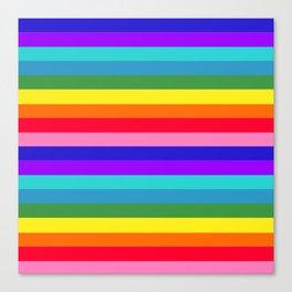 Stripes of Rainbow Colors Canvas Print