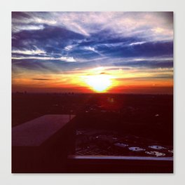 Sunset Rooftop Canvas Print
