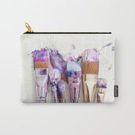 Six Dirty Paintbrushes (Photo) Carry-All Pouch