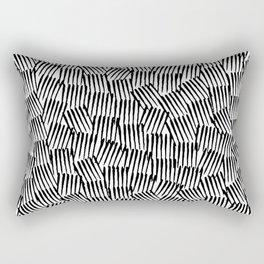 Crosshatched yourself Rectangular Pillow