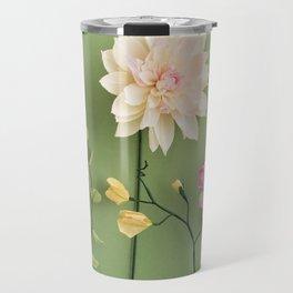 Crepe paper flowers Travel Mug
