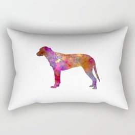 Finnish Hound in watercolor Rectangular Pillow