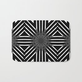 Tribal Black and White African-Inspired Pattern Bath Mat