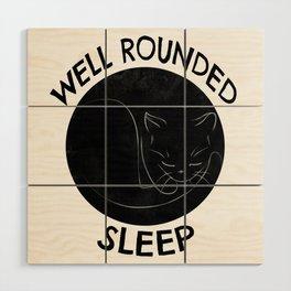 Well Rounded Sleep Wood Wall Art