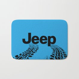 Jeep 'Tire-tracks' Surfblue Bath Mat