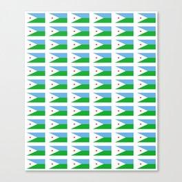 flag of Djibouti -djiboutian,Jabuuti,Gabuuti,Djiboutien,punt,aksum,aden Canvas Print
