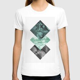 Geometric and botanical IV T-shirt