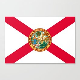 Flag of Florida Canvas Print