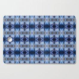 snowflake in blue 8 pattern Cutting Board
