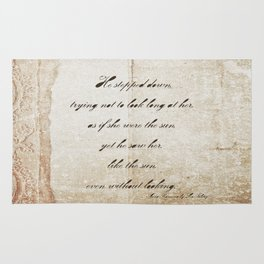Anna Karenina Quote  As if she were the sun by Leo Tolstoy Rug