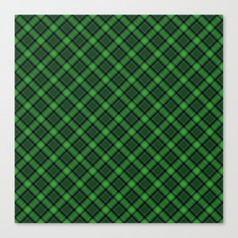 Green Scottish Fabric High Res Canvas Print