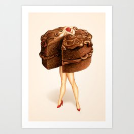 Cake Girl - Chocolate Art Print