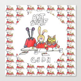 Kids Art Bag Canvas Print
