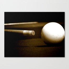 Pool Table-Sepia Canvas Print