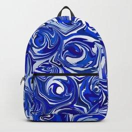 China Blue Paint Swirls Backpack